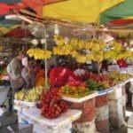 stand de fruits marché au cambodge
