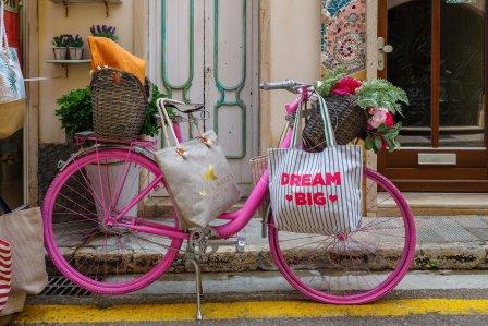 albert einstein - bicyclette